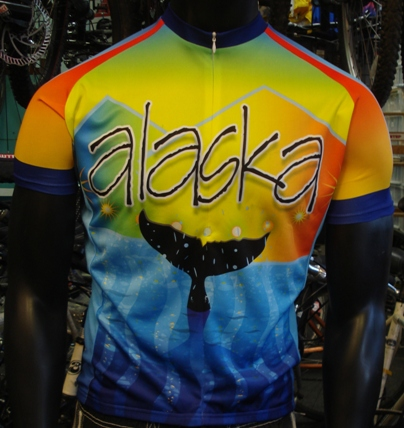 Alaska Whale Tail Bicycle Jersey